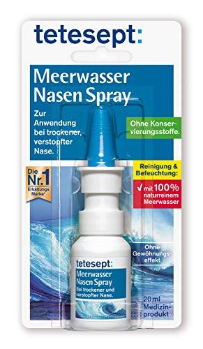 tetesept Meerwasser Nasen Spray – Nasenspray zur Reinigung der verstopften...