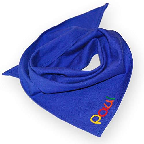 Halstuch kobalt blau für Babys und Kleinkinder Mädchen mit Namen Dreieckstuch...