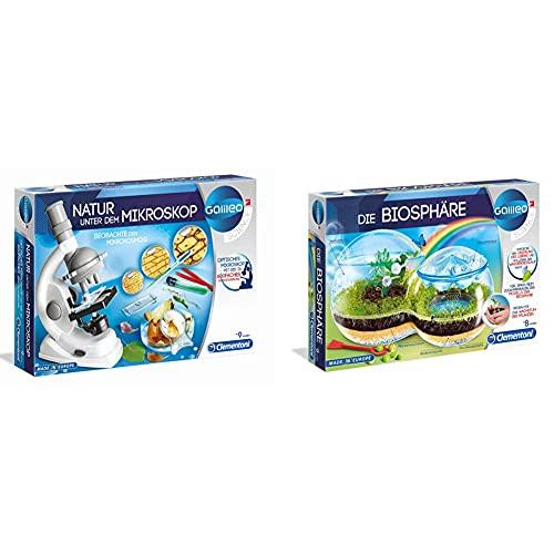 Clementoni 69804 Galileo Science – Natur unter dem Mikroskop, Spielzeug für...
