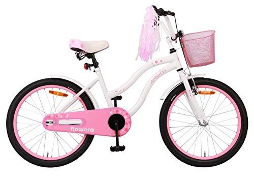 Amigo Flower - Kinderfahrrad für Mädchen - 20 Zoll - mit Handbremse,...