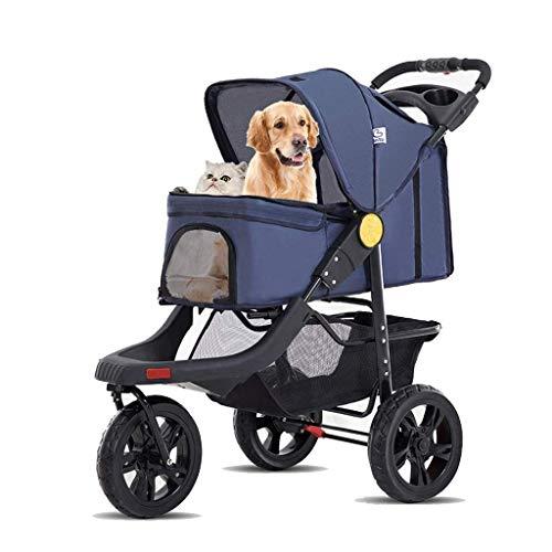 GXWLWXBB Kinderwagen mit 3 Gummiräder, hohe Kinderwagen for Max Tragfähigkeit...
