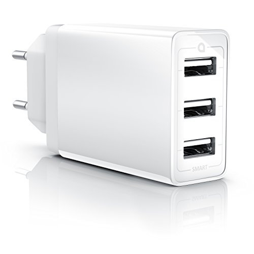 CSL - 30W USB 3 Port Ladegerät Netzteil mit Smart Charge Solid Charge...