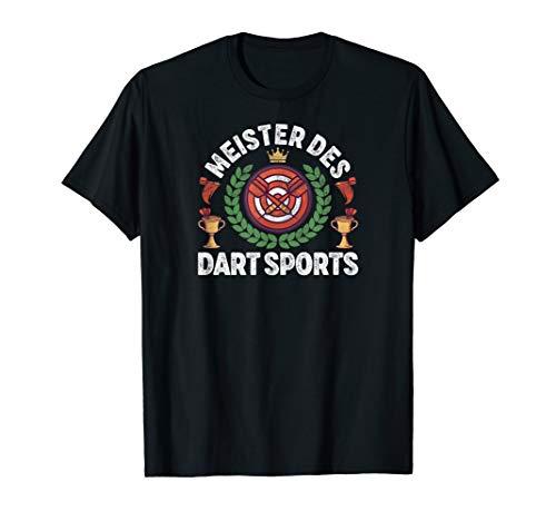 Herren Meister Des Dart Sports mit Dartscheibe und Dartpfeile T-Shirt
