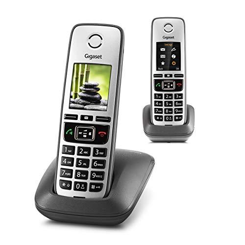 Gigaset Family – 2 schnurlose Telefone mit großem, farbigem Display und hoher...