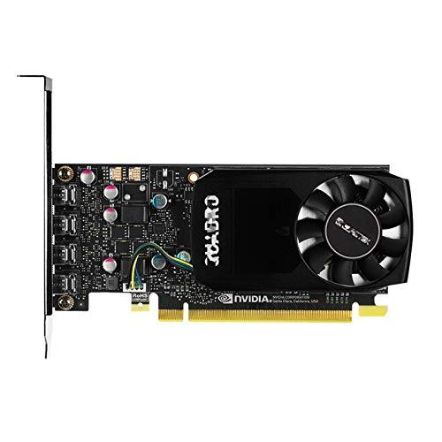 XIKONG Grafikkarte, P1000 GPU 4 GB GDDR5 1000 MHz Mini DP Video Doppelfächer...