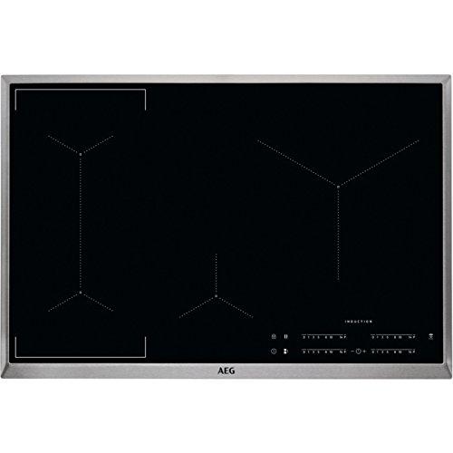 AEG IKE84441XB Autarkes Kochfeld / Herdplatte mit Touchscreen, Topferkennung &...