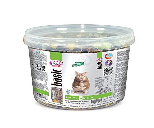 Lolo Basic Alleinfutter Für Hamster, 3 L, 2 Kg Eimer, Getreide, Futter, Nager
