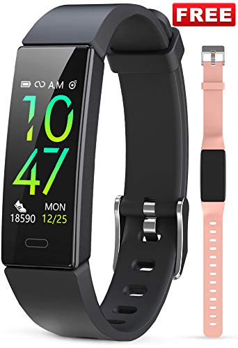 JAZIPO Fitness Armband mit Blutdruckmessung Pulsmesser, Fitness Tracker Uhr...