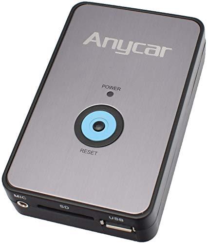 Anycar USB SD AUX MP3 Adapter + Bluetooth Freisprechanlage kompatibel für Audi:...