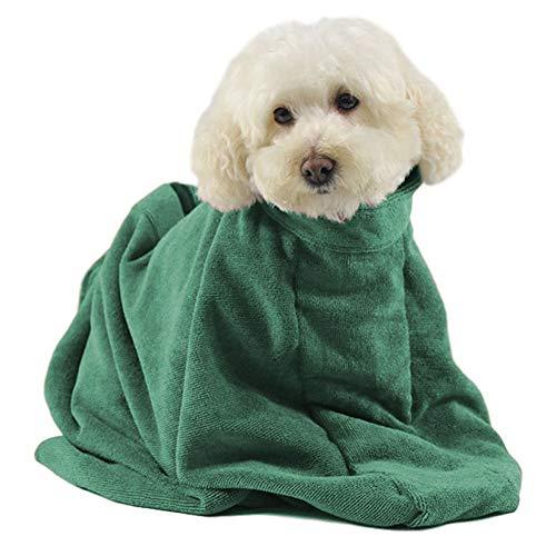 Angwis Saugfähiges Hundehandtuch / Bademantel-Tasche, für Hunde,...