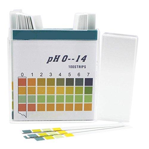 Chytaii PH Teststreifen PH Testpapier Lackmuspapier 0-14 100 Stücke für Wasser...