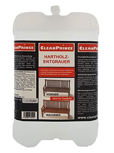 5 Liter Hartholz Entgrauer   Holzentgrauer Holz Teakholz Bankirai Reiniger Farbe...