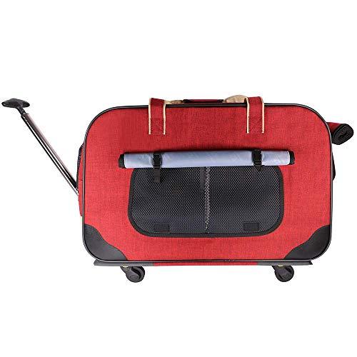 Reisetragetasche Haustier-Rucksack mit Rädern for Hund/Katze, mehr Nutzen...