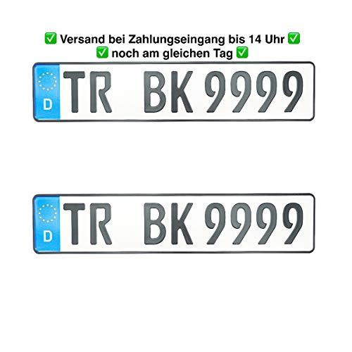 2 Stück Geprägt Autoschilder Nummernschilder Autoschilder // Wunschkennzeichen...