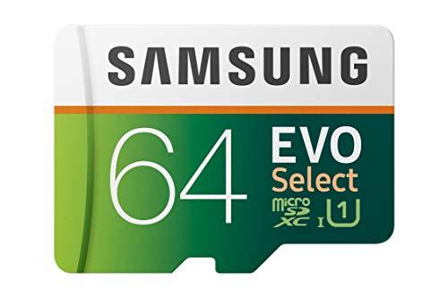 Samsung EVO Select 64 GB microSD 100MB/s, Geschwindigkeit, Full HD & 4K UHD...