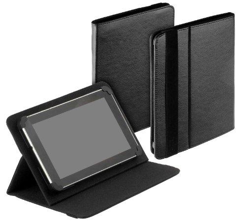 yayago Tablet Book-Style Tasche in Schwarz mit Standfunktion - Ultra Flach -...