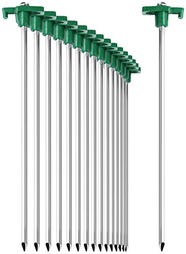 com-four® 16x Zelt-Heringe aus Stahl - Lange und robuste Erdnägel mit...