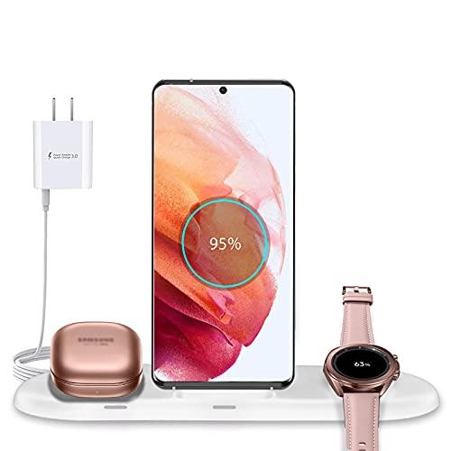 Kabelloses Ladestation, 3 in 1 Fast Wireless Charger für Samsung Watch 3 1...