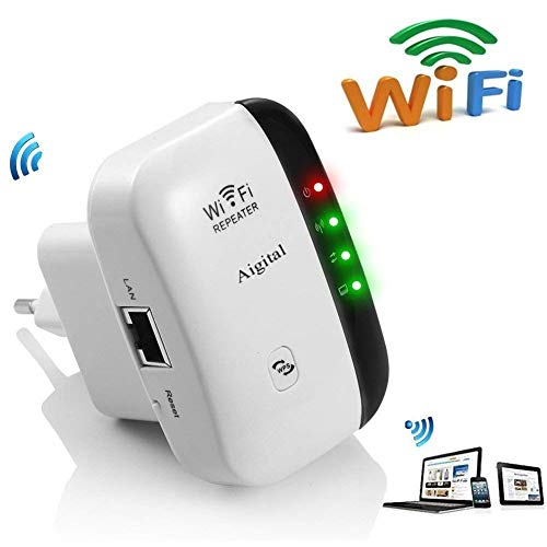 Aigital WLAN Verstaerker WiFi Repeater Range Extender verstärker 300Mbps...