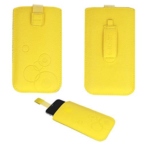 Handyschale24 Slim Case für Timmy M9 Handytasche Gelb Schutzhülle Tasche Cover...