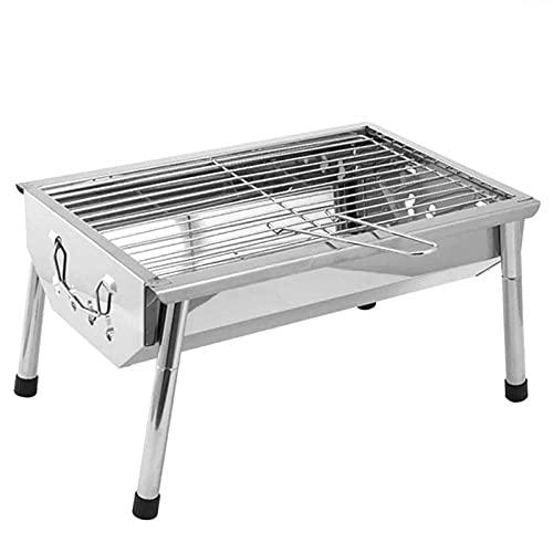 Tragbarer Holzkohlegrill - Edelstahlfalzen BBQ Grill - Kitchenstil im Freien...