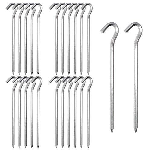 24 Stück Zelt-Heringe aus Stahl, Verzinktem Stahl Zelt Heringe Silber, Outdoor...