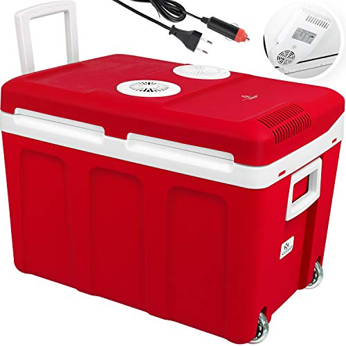 KESSER® 40L Kühlbox mit Rollen | zum Warmhalten und Kühlen |...