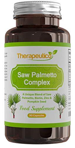 Saw Palmetto Complex with Biotin 10,000mcg, Zinc & Pumpkin Seed   High Strength...