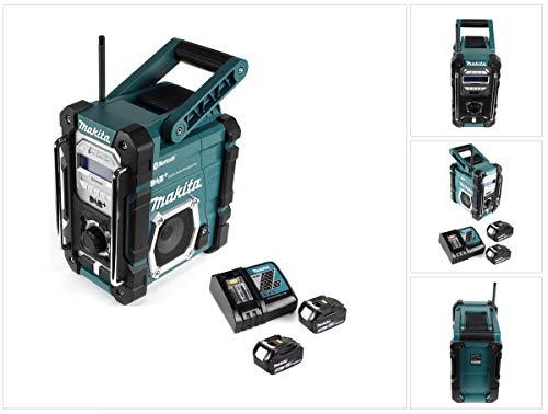 Makita DMR 112 RT Akku Baustellen Radio 7,2-18V Bluetooth DAB+ + 2x 5,0Ah Akku +...