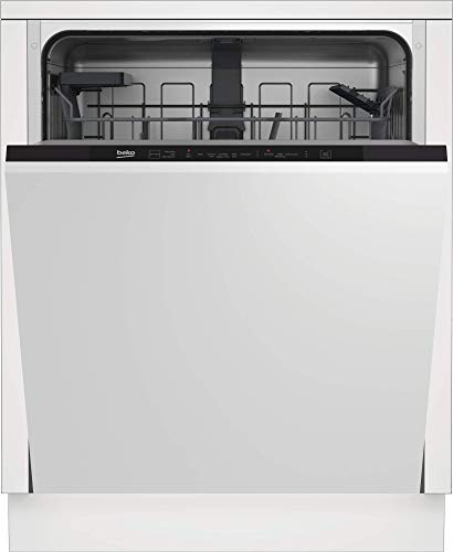 Beko DIN16420 Vollintegrierbar, 14 Maßgedecke, rotes Direct Access LED-Display...