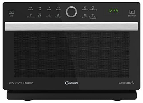 Bauknecht Supreme Chef MW 338 SB 4in1-Multifunktionsmikrowelle /900 W/33 L...