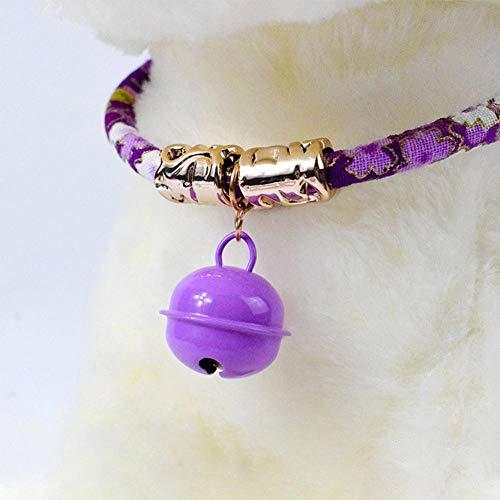 Janedream Haustier-Halsband mit Glöckchen, verstellbar, Baumwolle, für Hunde...