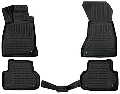 Walser XTR Gummifußmatten kompatibel mit Audi A5 Sportback Allrad (F5A, F5F)...