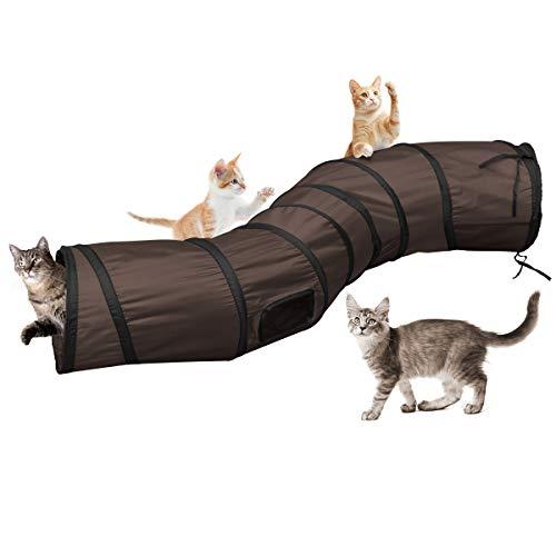 Katzentunnel Katzenspielzeug S Tunnel Pet Cat Play Tunnel Tube zusammenklappbar...