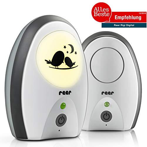 reer 50070 Babyphone Rigi Digital – abhörsicher, strahlungsarm, Nachtlicht,...