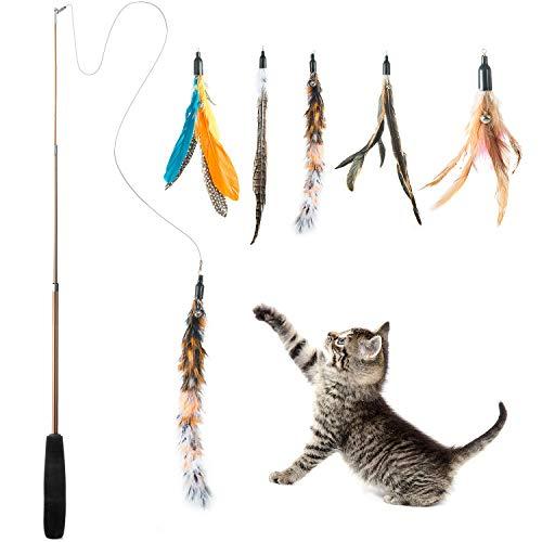 WolinTek Interaktives Katzenspielzeug, Katzenspielzeug Einziehbare Natürliche...