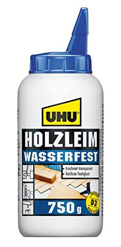 UHU Holzleim Wasserfest Flasche, Universeller und wasserfester Weißleim -...