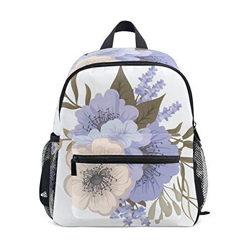 Kleine Schultasche Retro Blumen Pflanze Rucksack für Mädchen Jungen Kinder...
