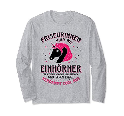 Lustiges Friseurin Geschenk Sprüche Frisöse Frisörin Langarmshirt
