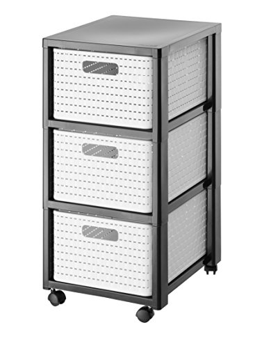 Rotho  Tower Country  Rollcontainer mit 3  Schubladen in Rattan - Optik,...