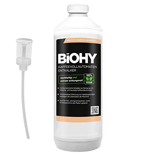 BiOHY Kaffeevollautomaten Entkalker (1l Flasche) + Dosierer   Ideal zur...