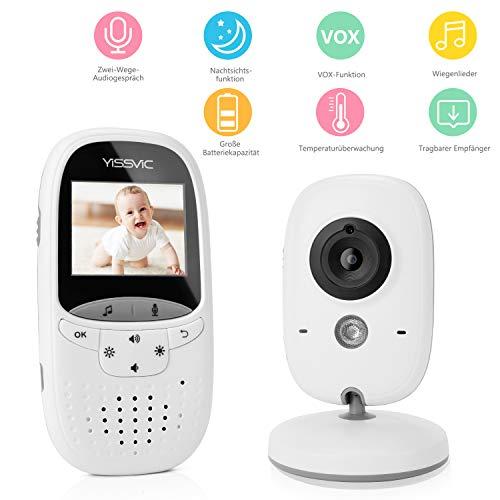 Yissvic Babyphone 2.4GHz mit Kamera Wireless Video Baby Monitor Nachtsicht...