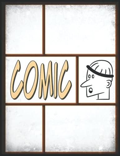 Comic Portrait Zeichnen: Leere Comic-Layout-Seiten mit einer Vielzahl von...