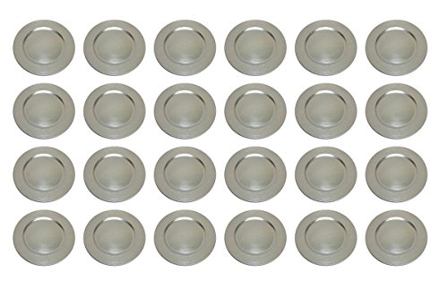 TAMLED Platzteller used look Dekoteller Ø 33 cm silber Set in...