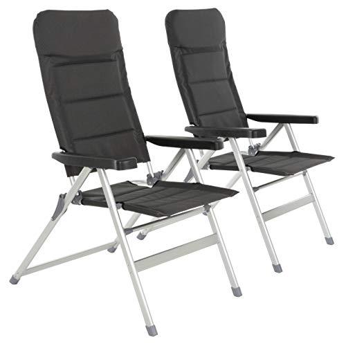 Nexos 2er Set Premium Klappstuhl Relax-Stuhl Campingstuhl Klappsessel – für...