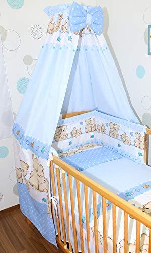 Himmel Vollstoff mit Himmelstange für Baby Kinder Bett Baumwolle...