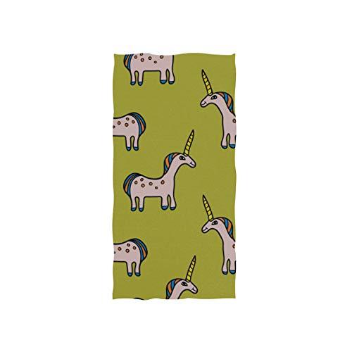 N\A Dekoratives Handtuch Nettes Cartoon Kind Wildtier Pferd Weiches Handtuch...