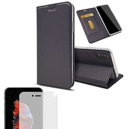 Eximmobile - Handytasche kompatibel mit Apple iPhone 7 Plus + Hülle Kartenfach...