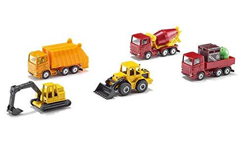Siku MN016-197 6283, Geschenkset 4 - Baustellenfahrzeuge, 5-Teilig,...