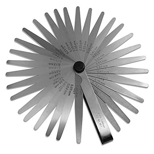 Spurtar 32 Klingen Edelstahl Klingen Fühlerlehre Metrische/Imperial Werkzeug...
